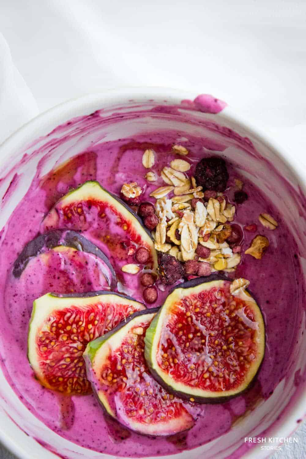 Pimped Out Greek Yogurt topped with figs