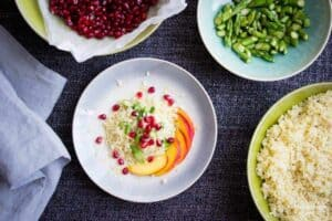Bulgur Salad with green Asparagus and Nectarine