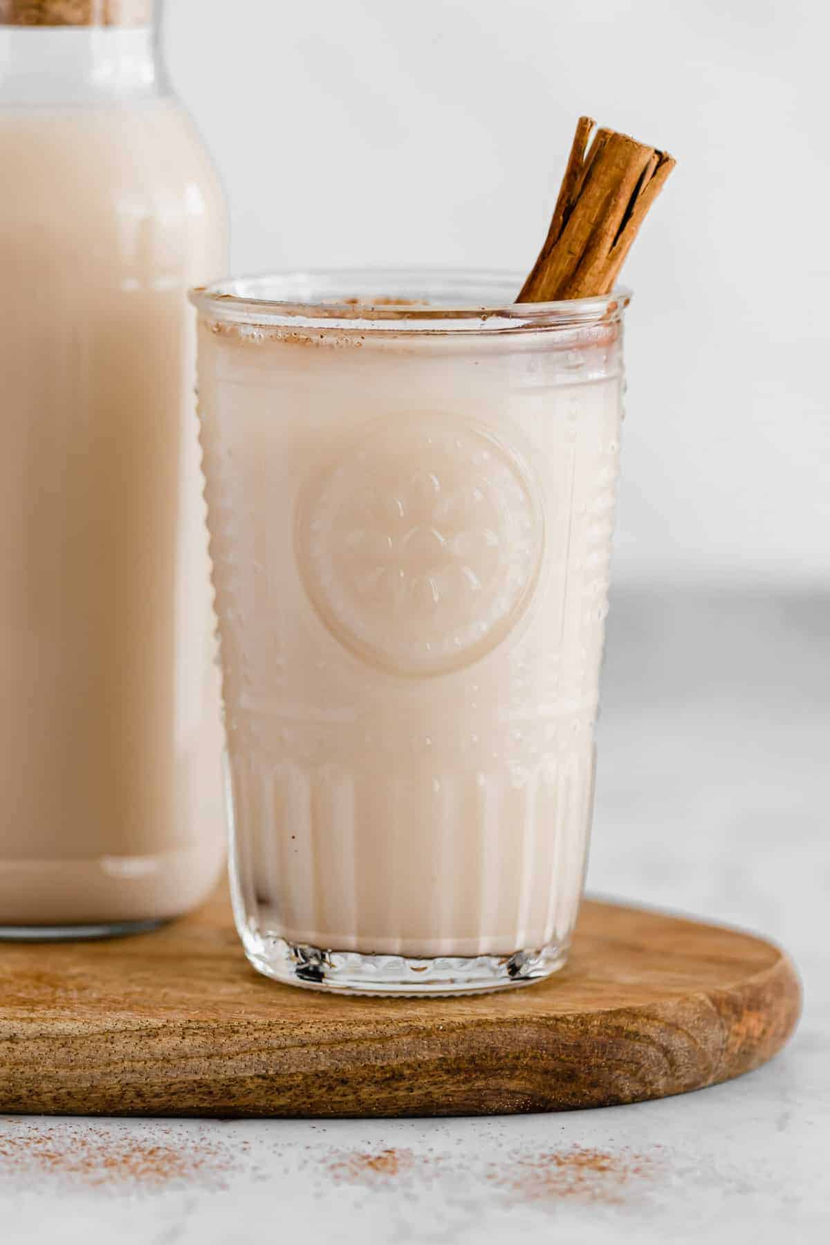 vegan horchata in a glass