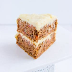 Carrot Cake with Cream Cheese Frosting Inside