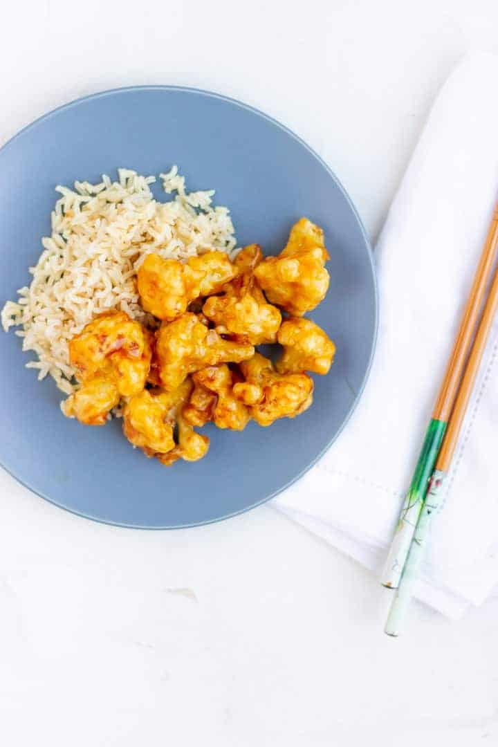 cauliflower orange chicken