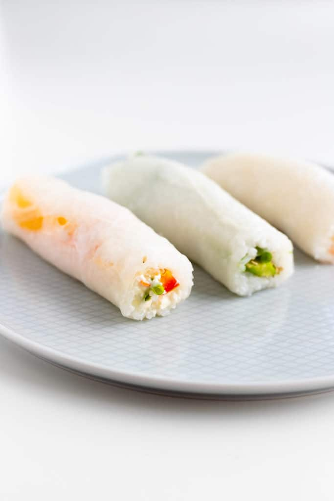 Veganes Sushi selber machen mit reispapier