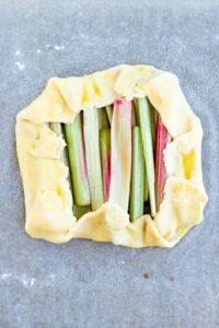 Rhubarb Galette | Before Baking