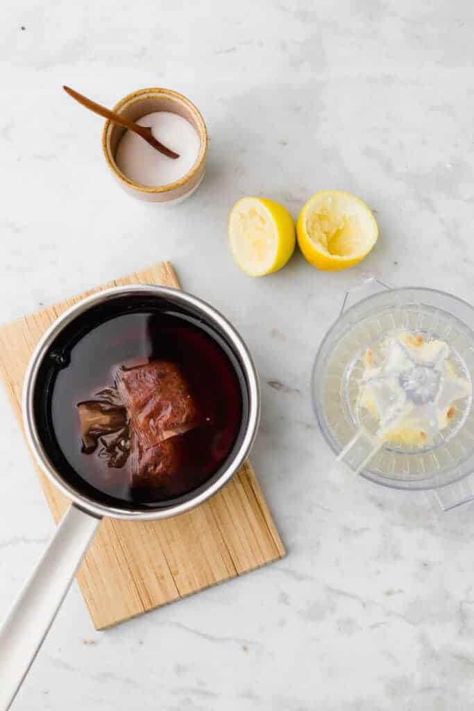 how to make iced tea - step 1