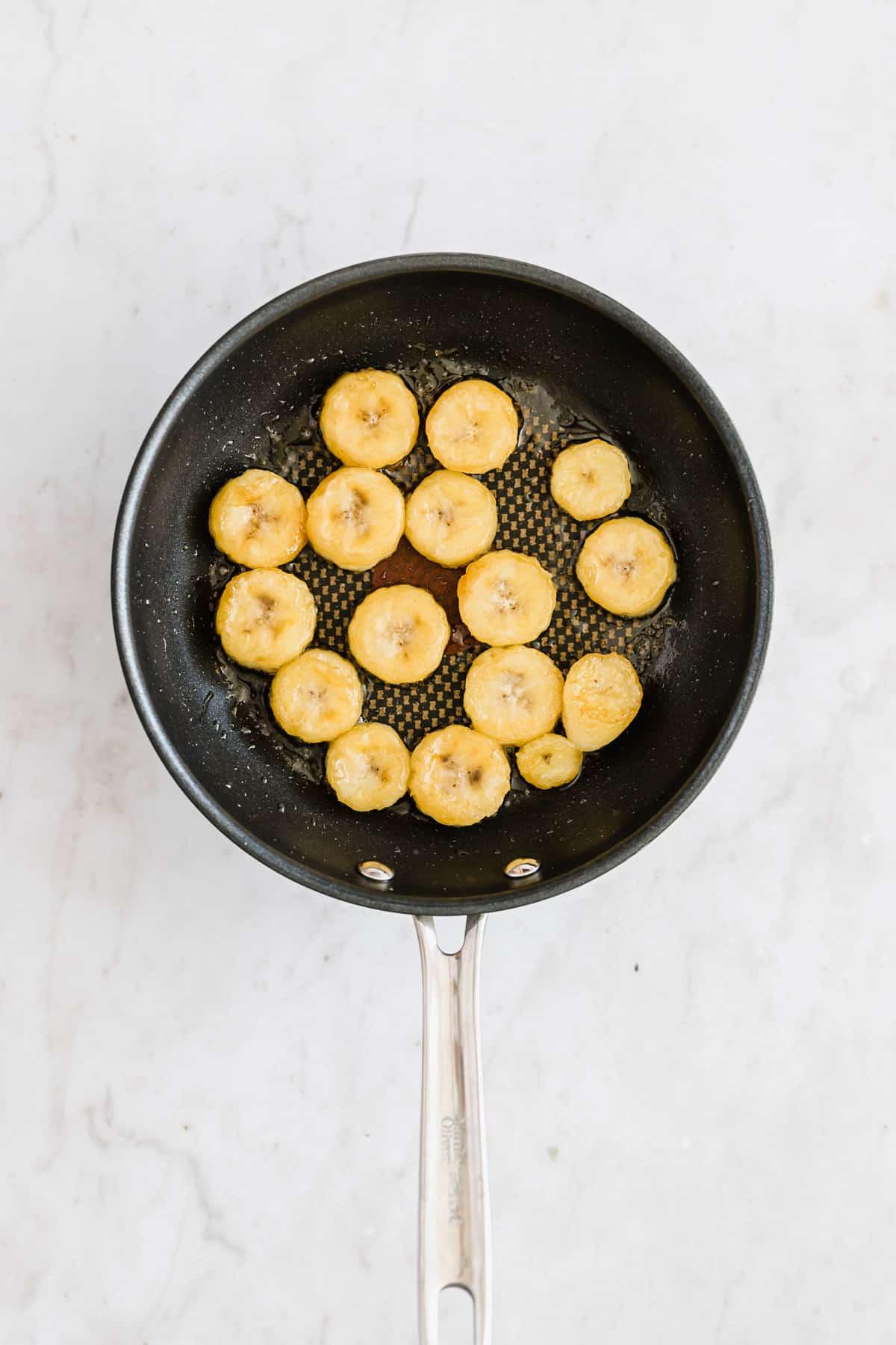 how to caramelize bananas step 2