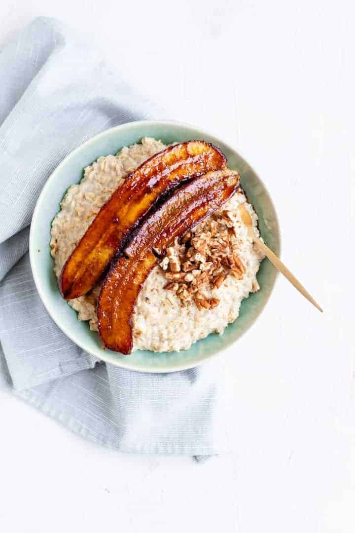 Caramelized Banana Porridge