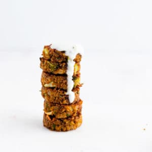 Veggie Patties with Tzatziki Sauce