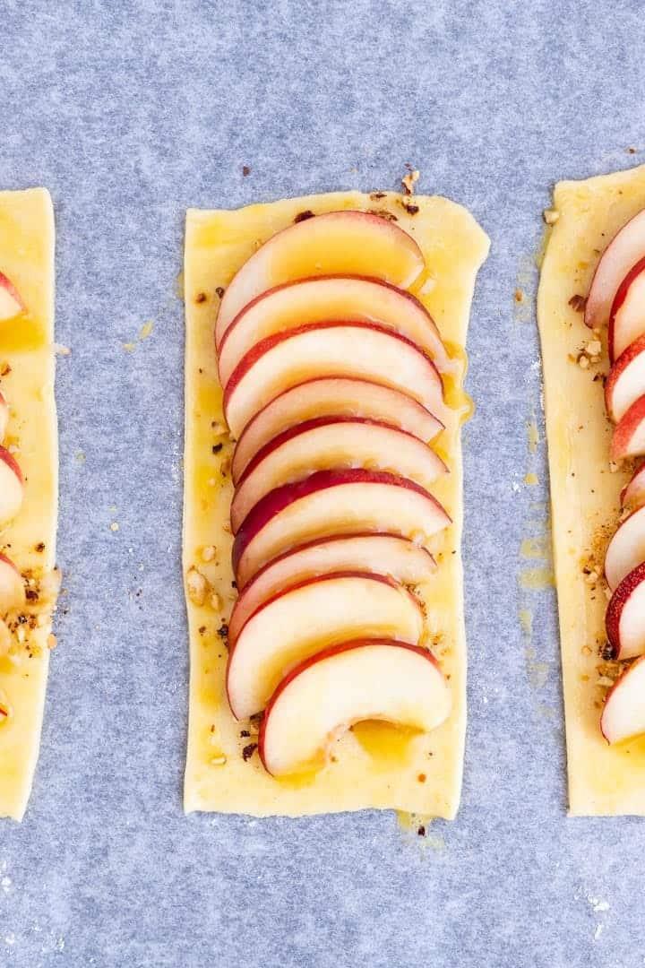 Nectarine Puff Pastry Tart in the Making