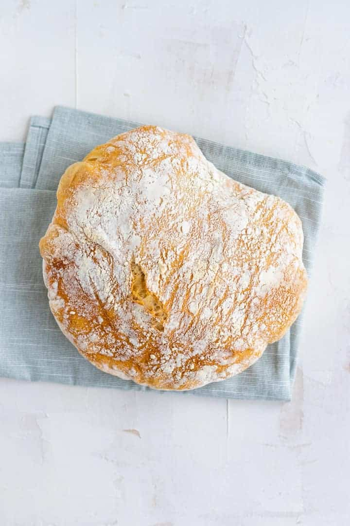 Easy homemade no knead bread recipe