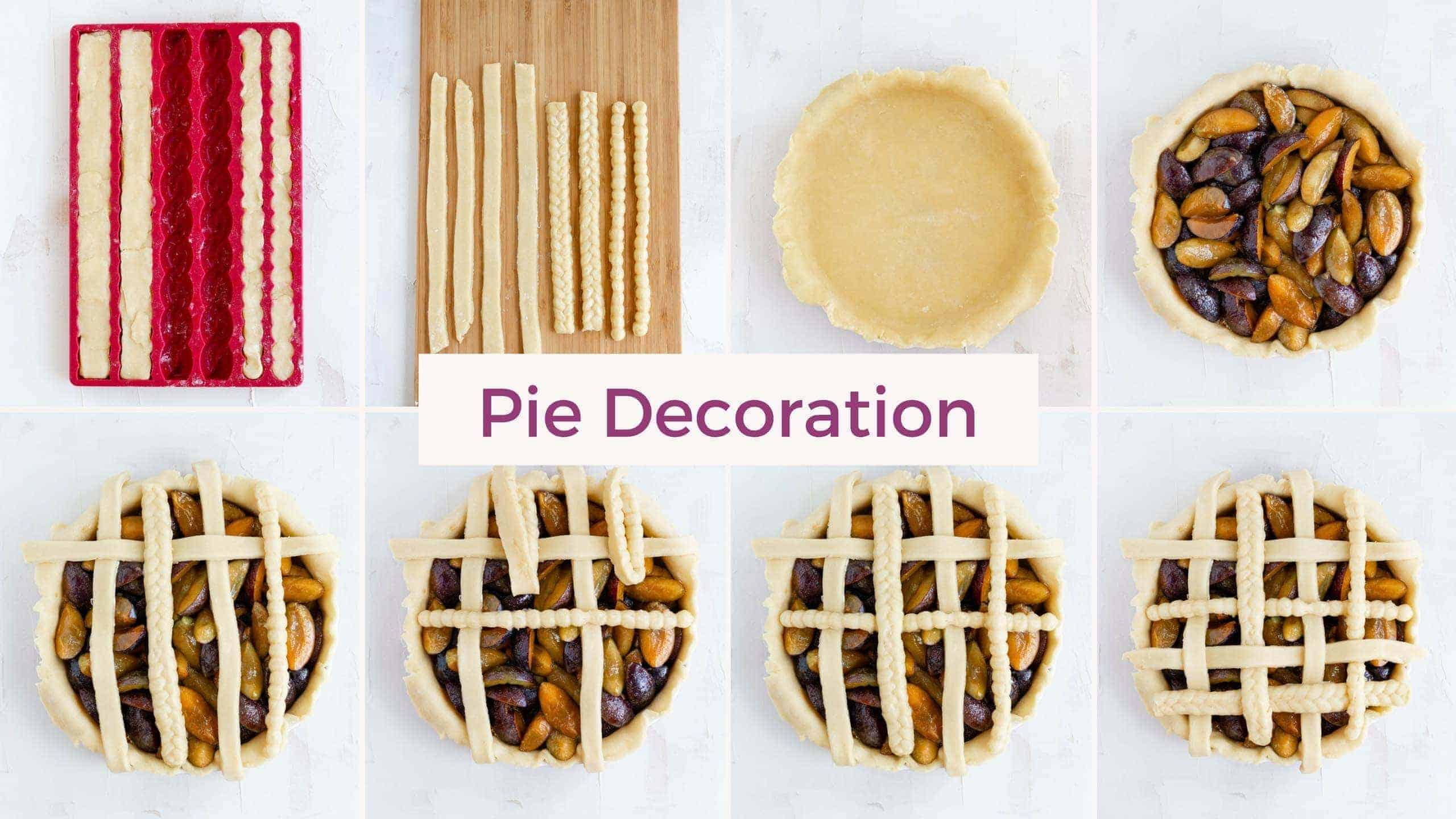 Plum Pie How to Decorate