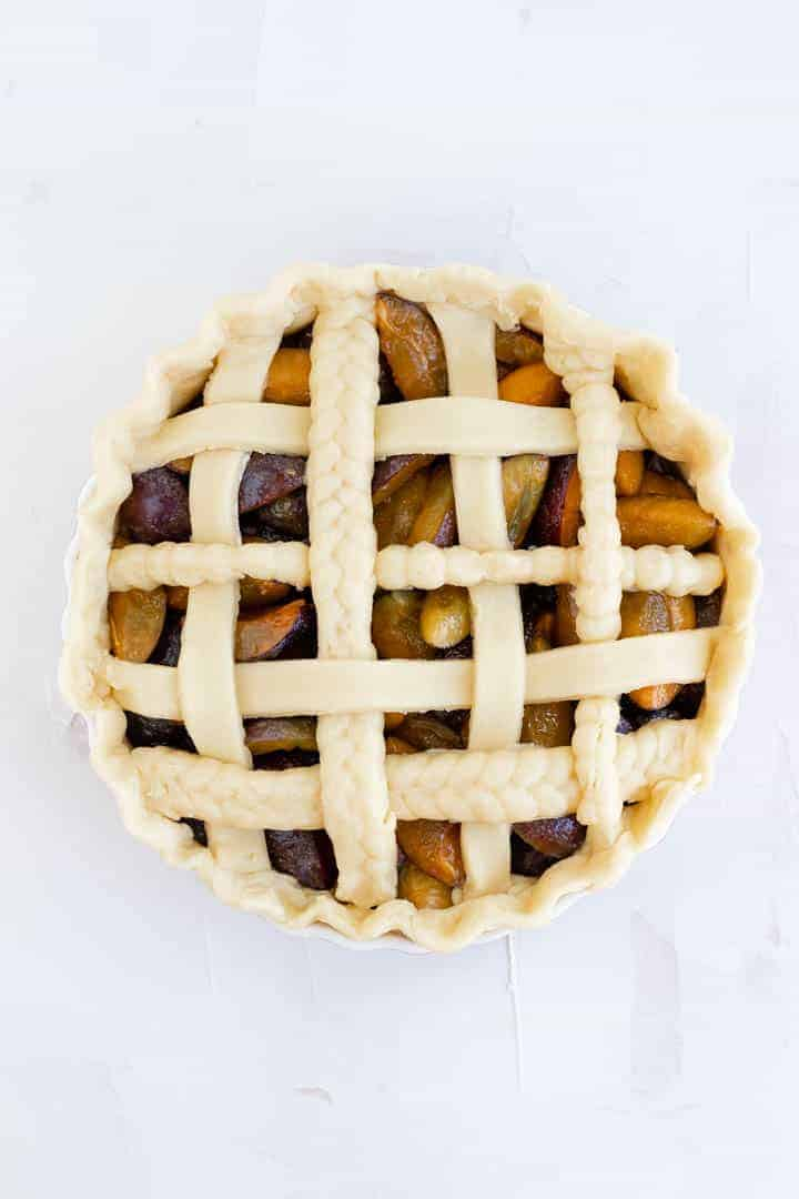 Pretty Plum Pie Recipe
