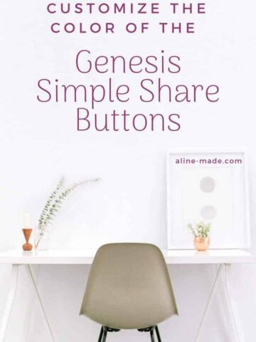 Customize the Genesis Simple Share Buttons Color