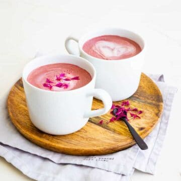 creamy vegan beetroot latte recipe
