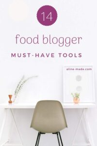 A list of must-have tools for food bloggers