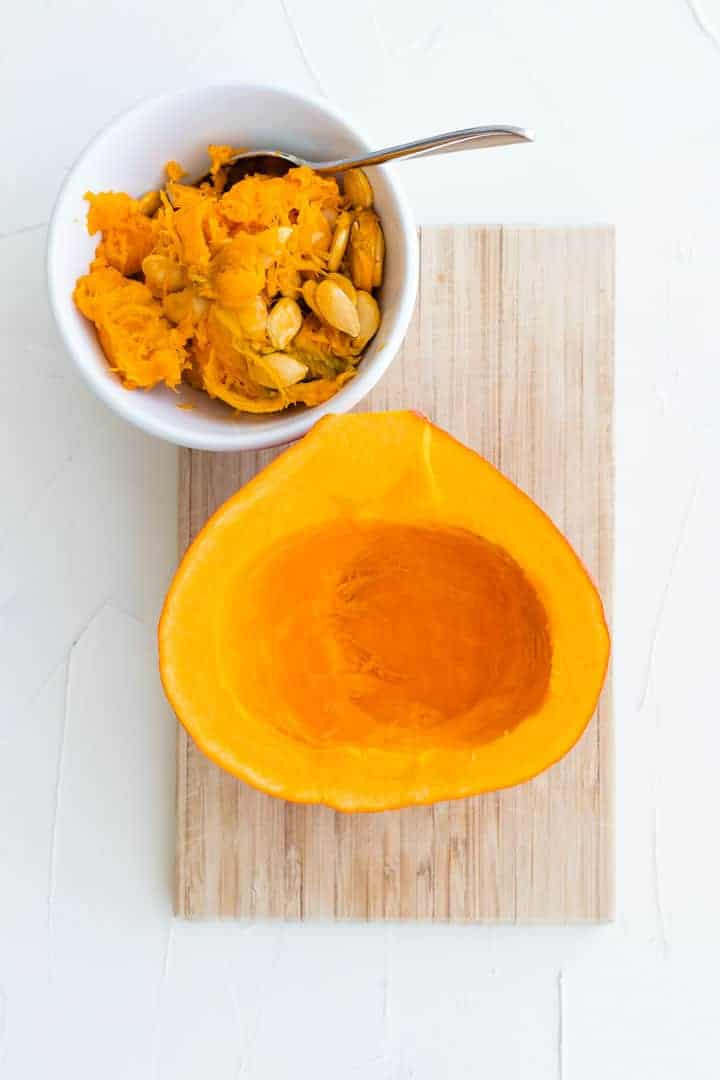 how to roast pumpkin for pumpkin pasta sauce step 1