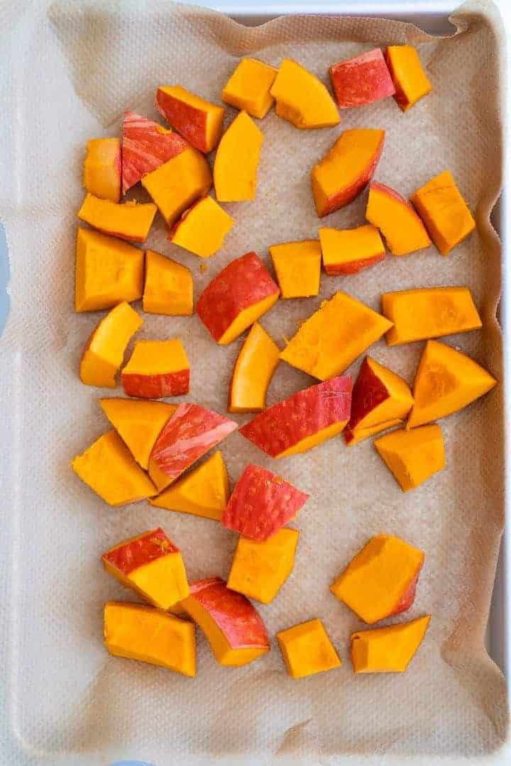 how to roast pumpkin for pumpkin pasta sauce step 4