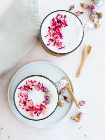 rose black tea latte recipe
