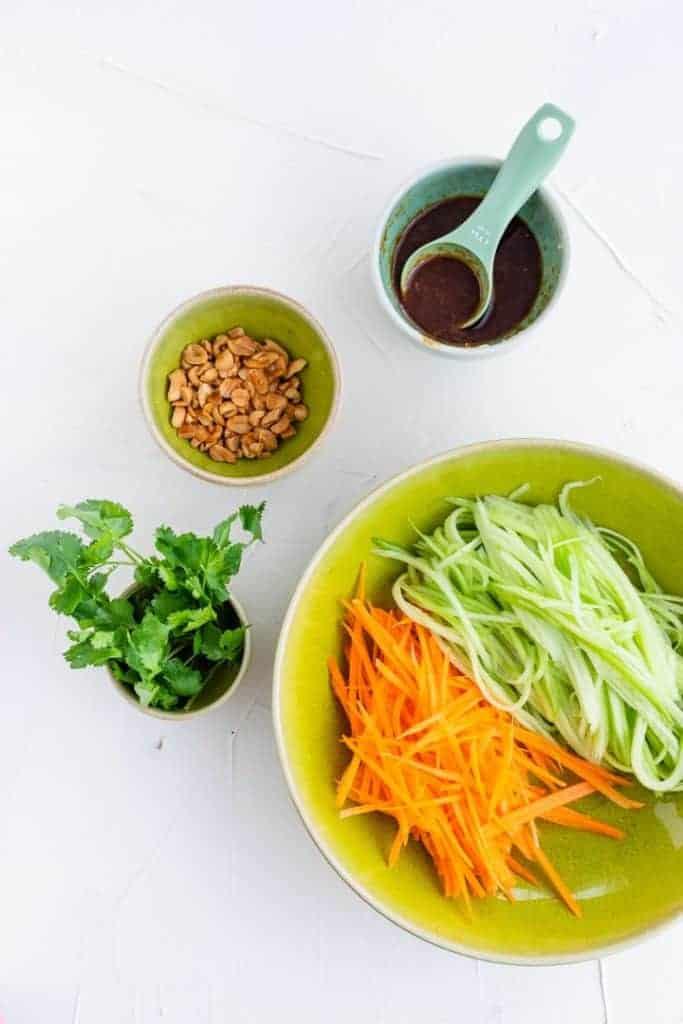zutaten für asiatischer gurkensalat