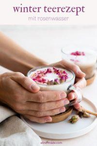 rosentee mit milch pinterest
