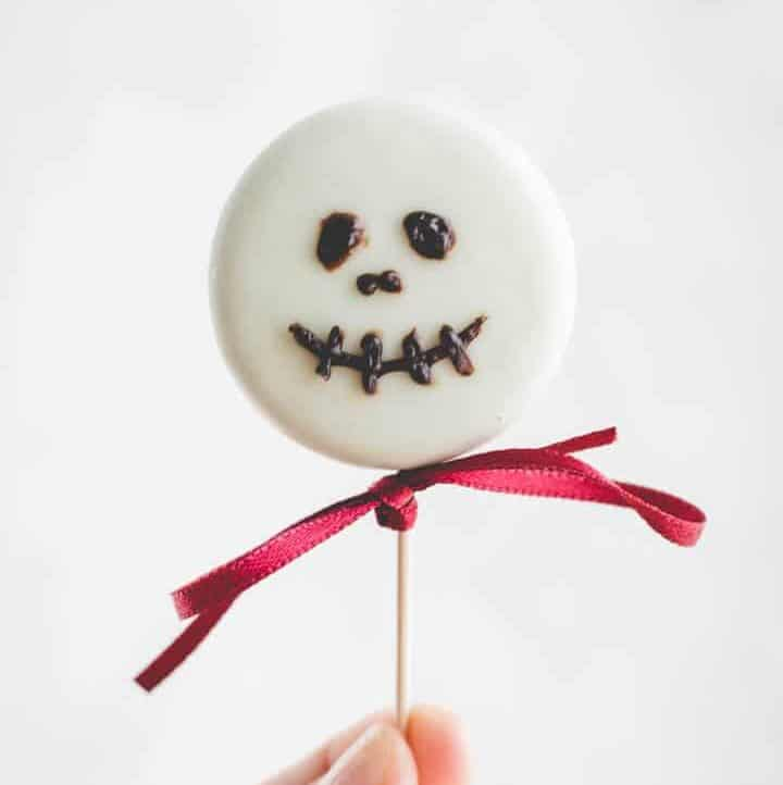 how to make halloween oreo pops