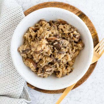 One Pot Reis mit Pilzen