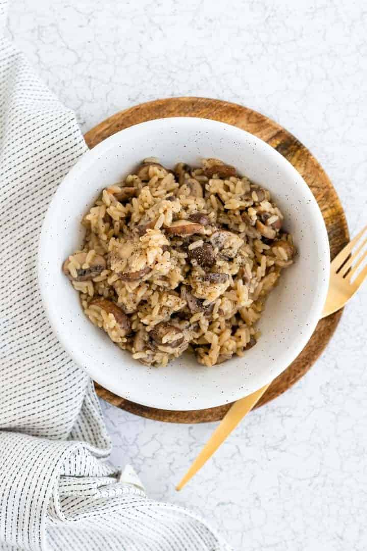 one pot mushroom rice recipe