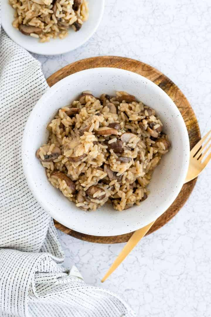 vegan rice and mushroom recipe