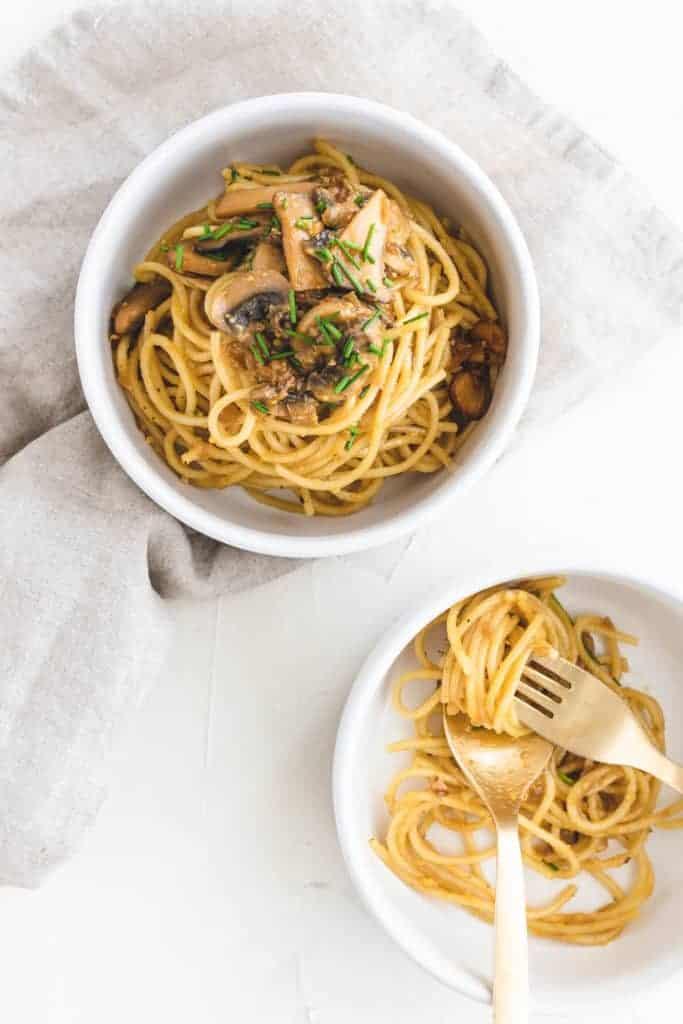 Vegetarische Spaghetti Carbonara Sauce