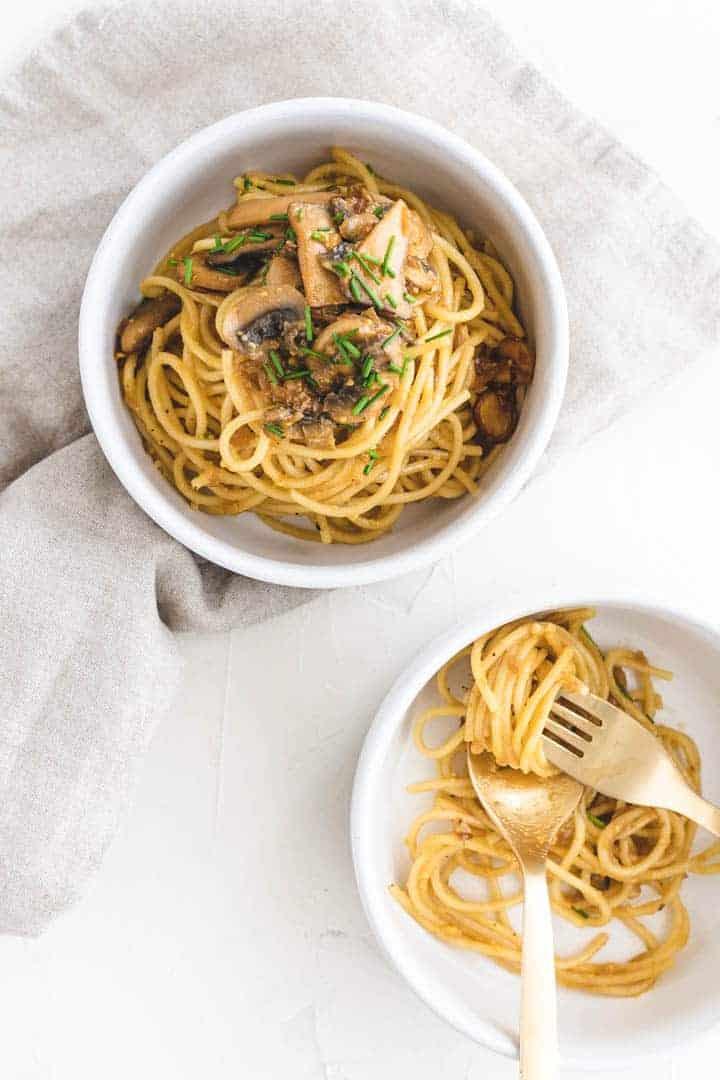 vegetarian pasta carbonara sauce recipe