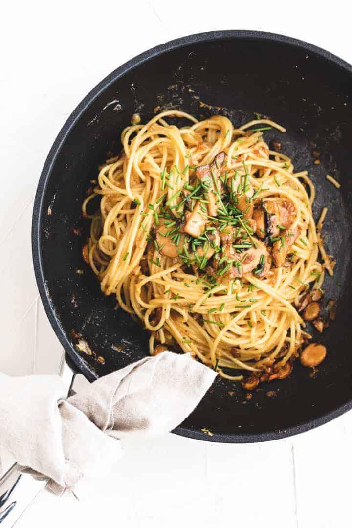 vegetarian carbonara recipe