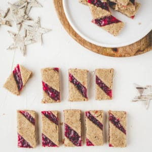 linzer cookies with raspberry jam