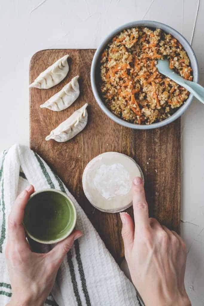 Vegane Dumplings mit Tofu Step 1
