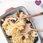roasted cauliflower pasta pinterest pin
