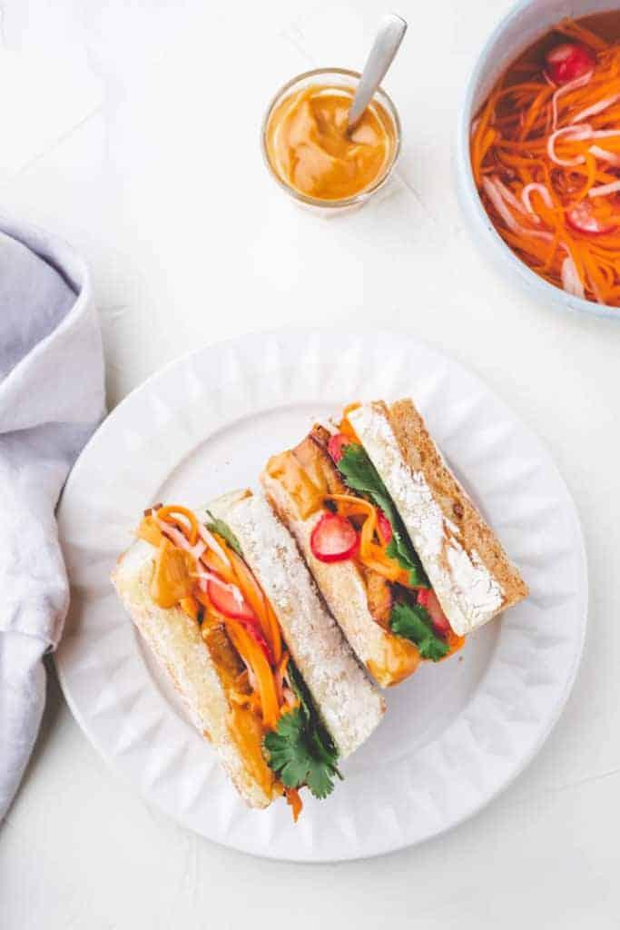 Tofu Banh Mi Sandwiches