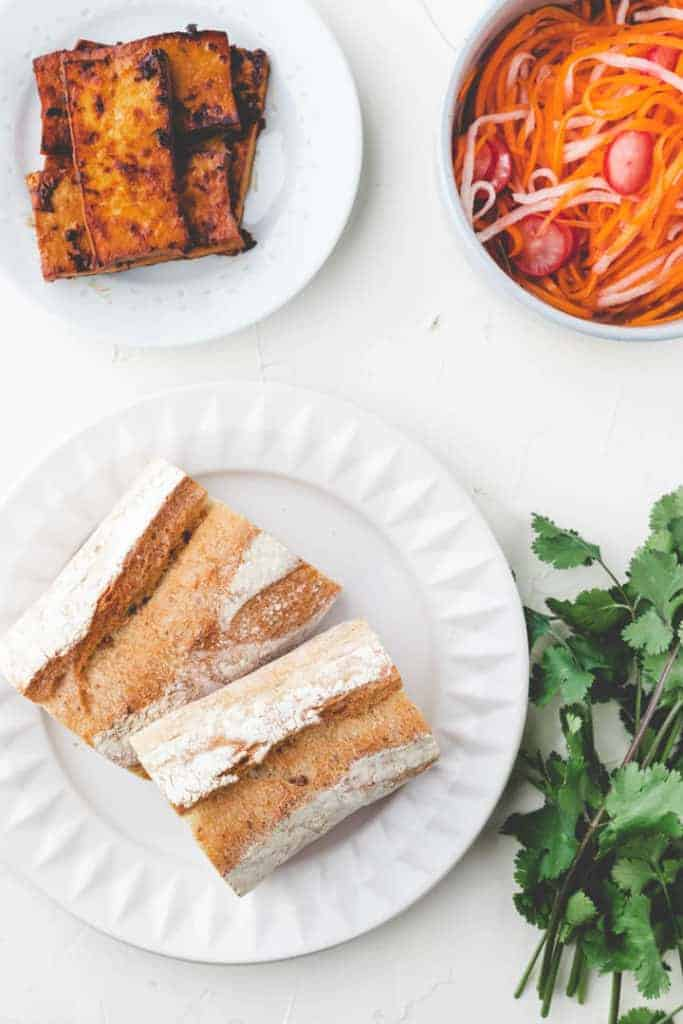 ingredients for banh mi sandwich recipe