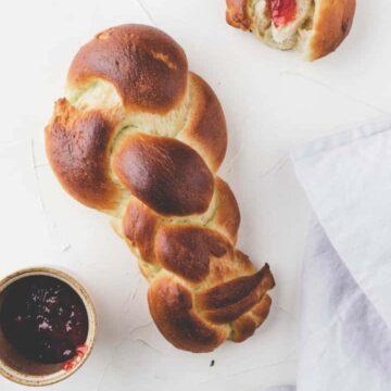 Vegan Zopf Bread - Swiss Braided Bread-1