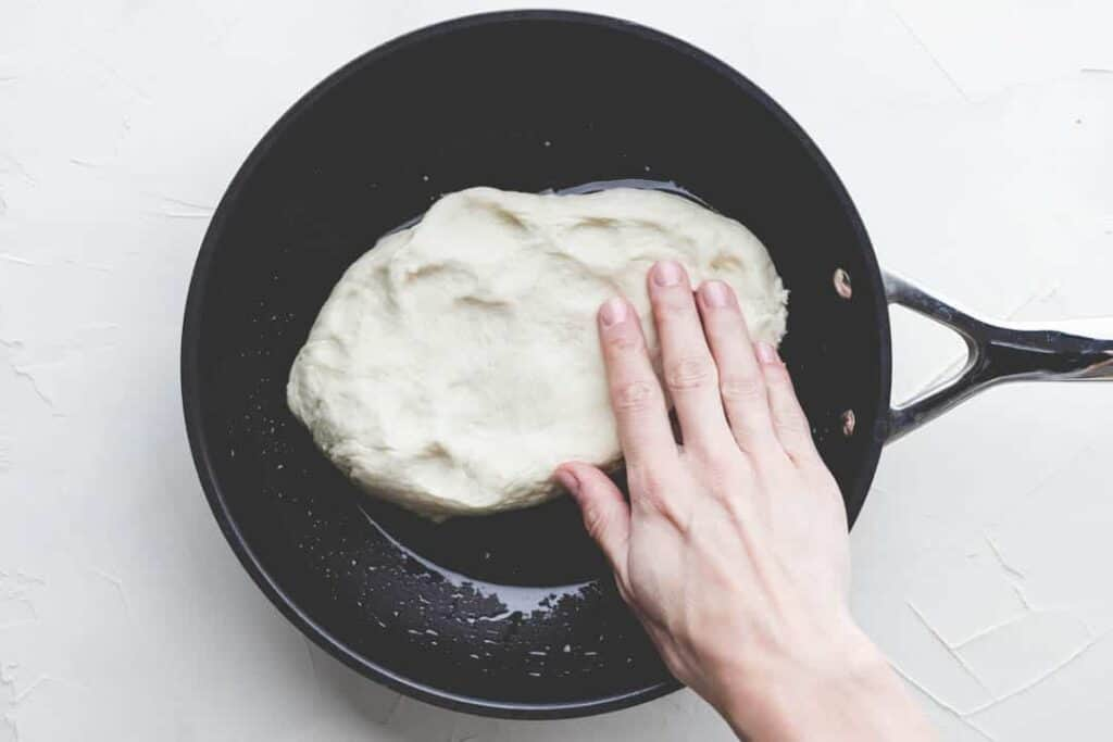 pan pizza dough recipe step 3