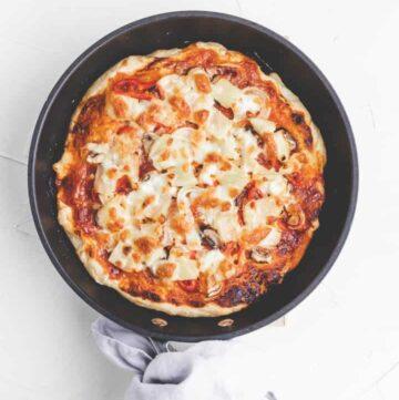 pan pizza | amerikanische pfannenpizza
