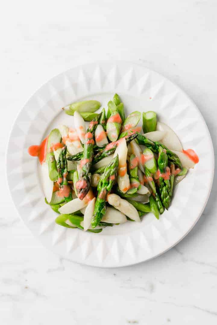 roasted asparagus salad with strawberry vinaigrette