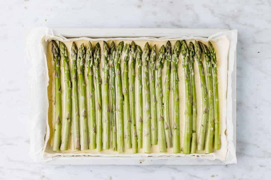 asparagus tart recipe step 5