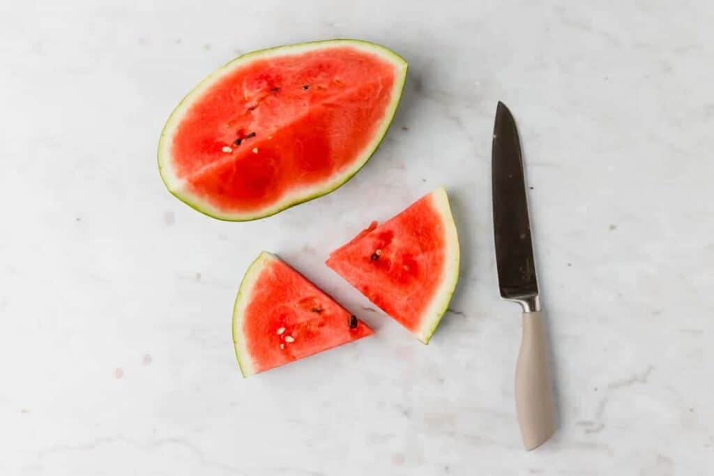how to chop watermelon