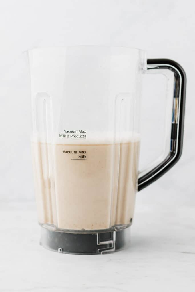 oat milk in a blender