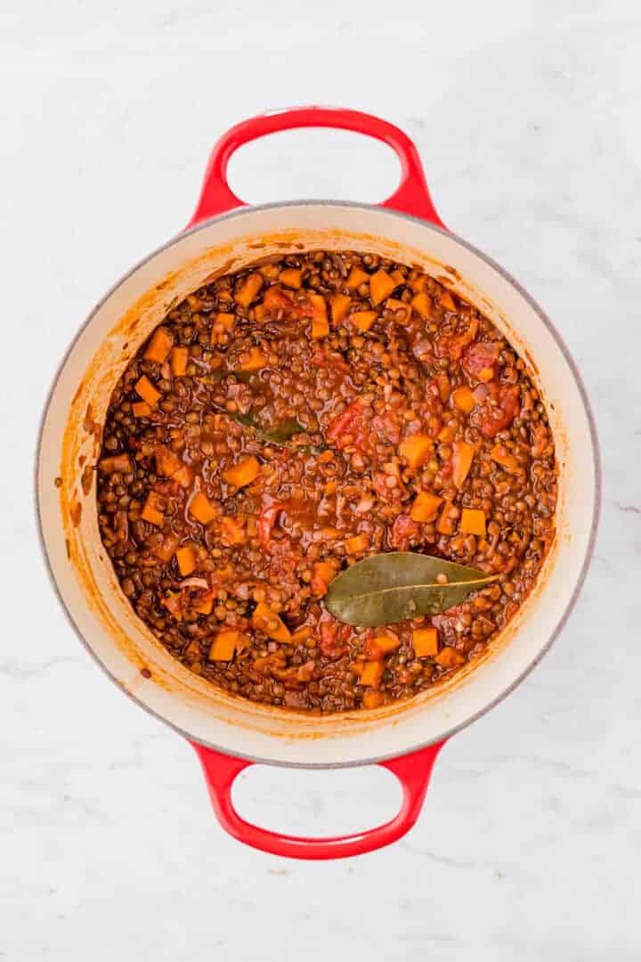 how to make lentil bolognese step 7