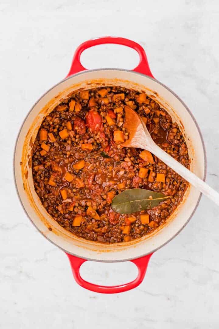 how to make lentil bolognese step 8