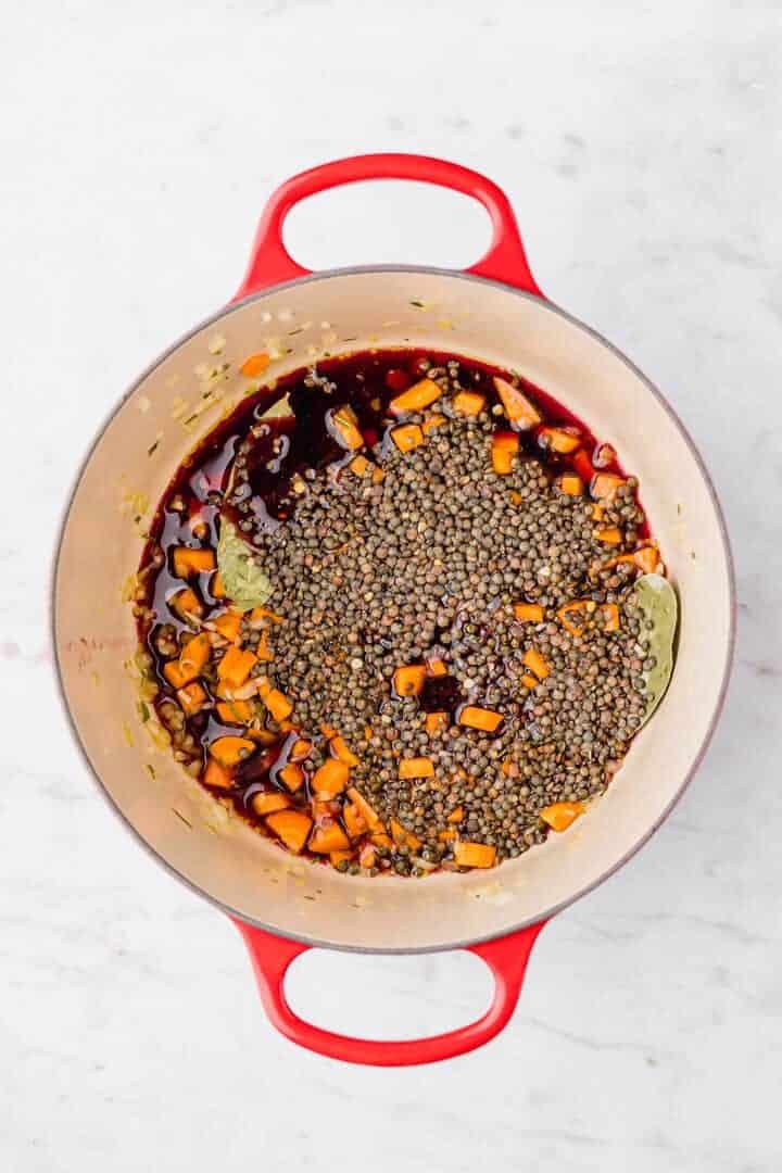 how to make lentil bolognese step 4