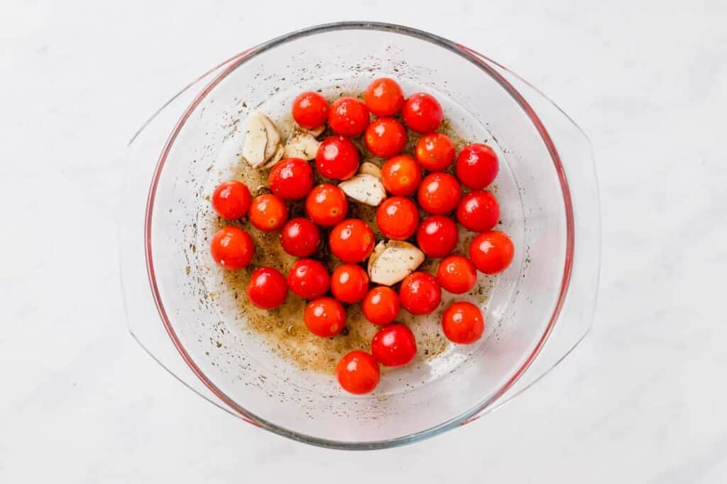 roasted cherry tomato pasta recipe step 1