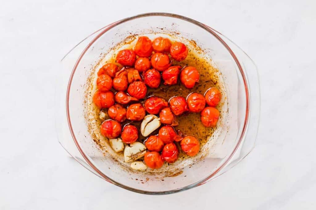 roasted cherry tomato pasta recipe step 2
