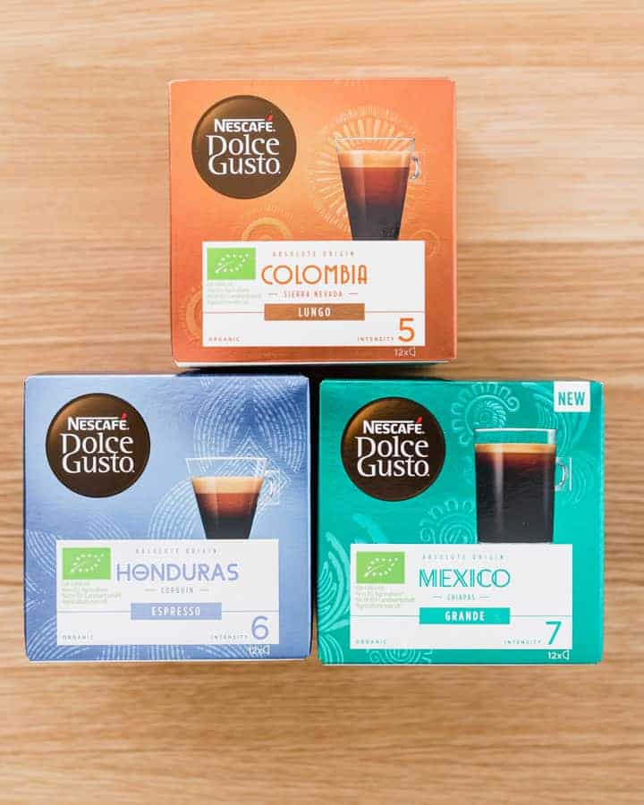 dolce gusto origin coffee boxes