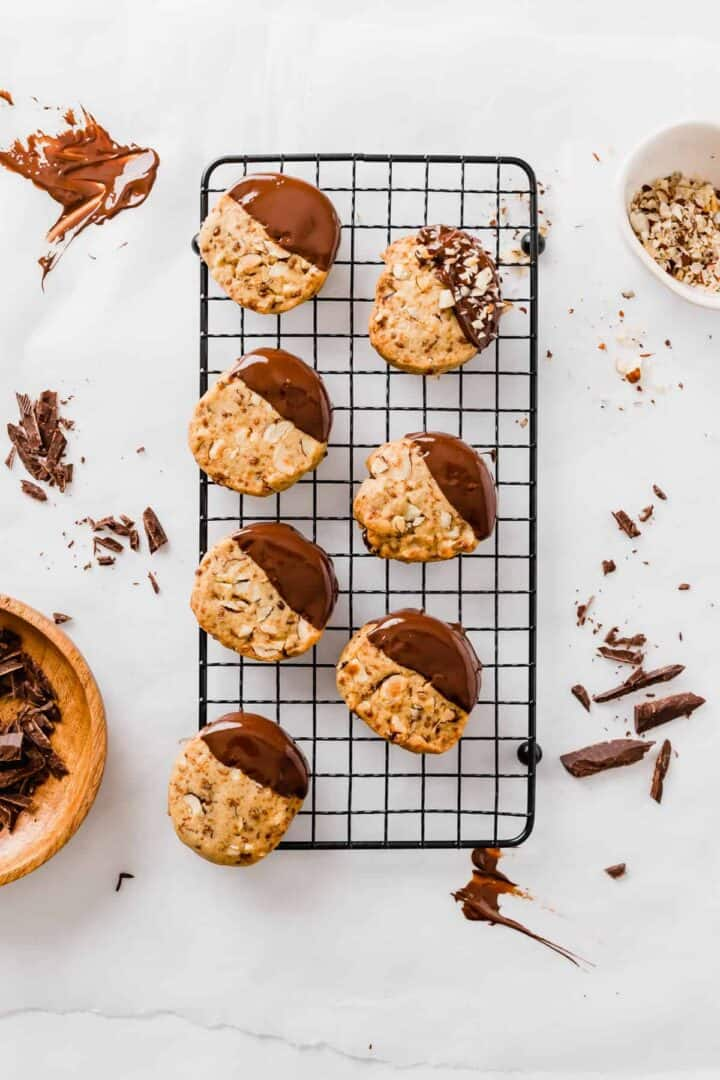 vegan slice and bake cookies with hazelnut and chocolate