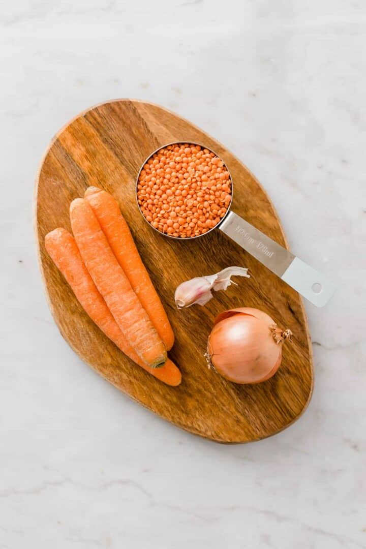 ingredients for red lentil soup